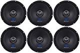 (6) Rockville RXM88 8' 500w 8 Ohm Mid-Range Drivers Speakers, Made w/Kevlar Cone