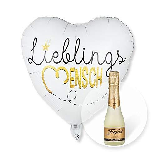 Helium Ballon Lieblingsmensch und Freixenet Semi Seco