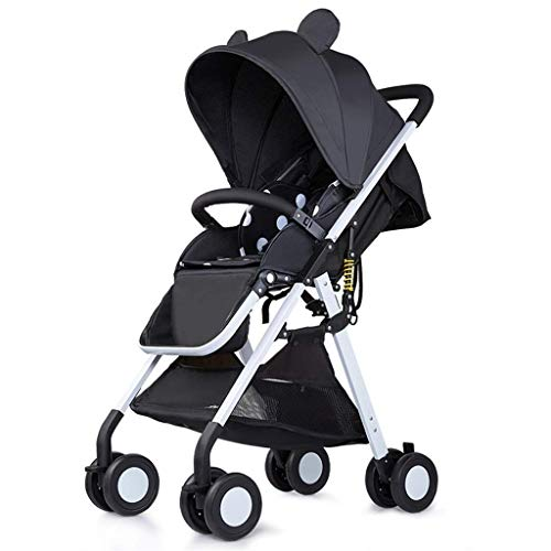 BGTRRYHY Cochecito de bebé de Alto Paisaje Cochecito de bebé Que Puede Sentarse Reclinable Ultraligero Plegable Portátil Paraguas de Bolsillo Carro para niños