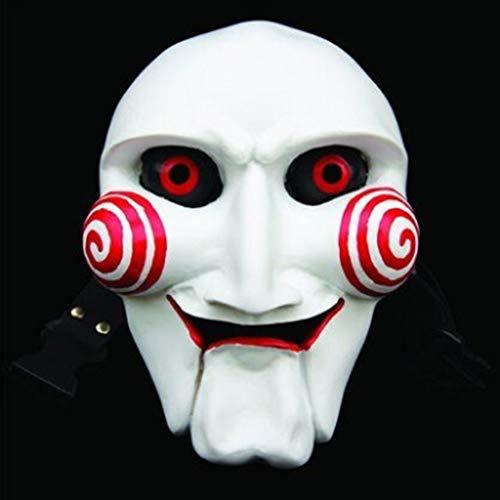 DSJSP Halloween Maske Lächelnd Clown Cosplay Bühnenmaske Ghost Masquerade Masken Party Gesichtsmasken (Color : A)