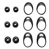 TEEMADE Ohrstöpsel für Gear Iconx Kopfhörer, S/M/L, 3 Größen, Silikon-Ohrstöpsel und Ohrbügel, passend für Gear Iconx SM-R140