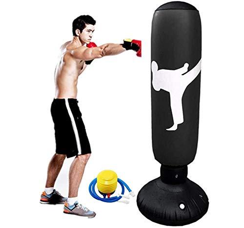 Punching Bag for Kids, 63Inch Punching Bag Freestanding Boxing Bag Fitness Punching Bag Column...