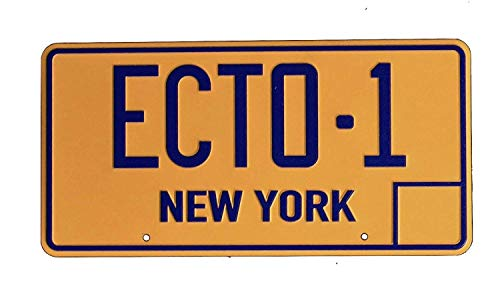 Super6props Ghostbusters ECTO-1 New York Replica Prop License Plate 300mm x 150mm