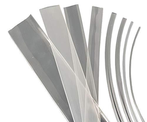 netproshop 1 Meter Schrumpfschlauch BEC3 105°C (3:1) Transparent, Farbe:Transparent, Durchmesser:40.0 mm