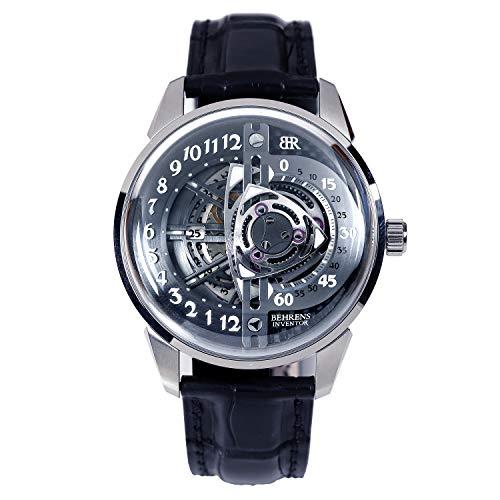 Behrens Reloj mecánico automático de los hombres original relojes de vestir para los hombres impermeable deportes reloj de pulsera Rotary b022gry