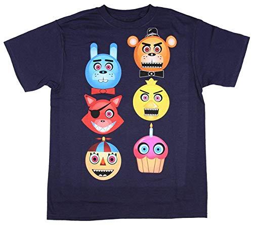 Five Nights at Freddy's Boys' Freddy Fazbear Glow in The Dark T-Shirt Size 10 Large Navy
