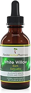 Florida Herbal Pharmacy, White Willow Bark (Salix alba) Tincture/Extract 2 oz. (Pack of 2)