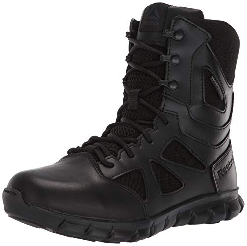 Reebok Women's Sublite Cushion Tactical RB806 Military & Tactical Boot, Black, 8.5 M US
