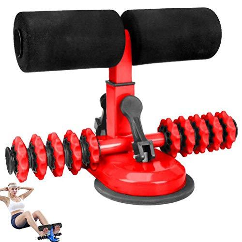 Barra para sentarse, con doble ventosa, rodillo de masaje para sentarse, dispositivo de apoyo mejorado para sentarse y equipo de fitness para entrenamiento en casa