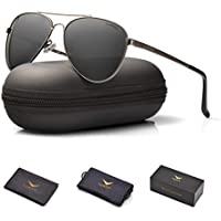Luenx Aviator Men Women Protection Sunglasses Polarized with Case