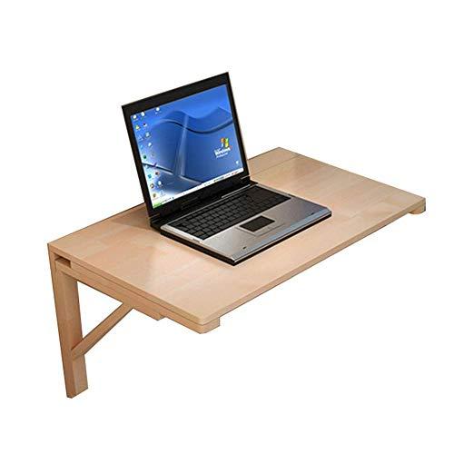 Mesa de centro para muebles, mesa de madera con hoja abatible montada en la pared, escritorio plegable para cocina y comedor, mesa para niños, escritorio para computadora, color madera, 6 (tamaño