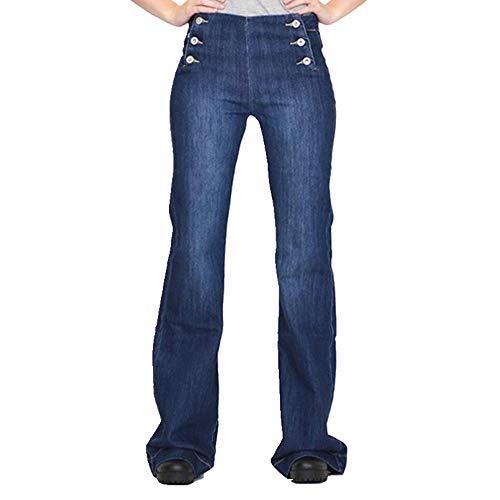 NP Vintage Doble Botonadura Media Cintura Jeans Mujeres Otoño Slim Fit Bell Bottom Pantalones de las Mujeres Casual Más Tamaño Jeans Negro Pantalones