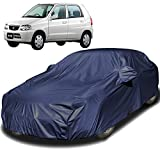 Autofact Car Body Cover Compatible for Maruti Alto Old Model (2000 to 2014) with Mirror Pockets (Navy Blue)