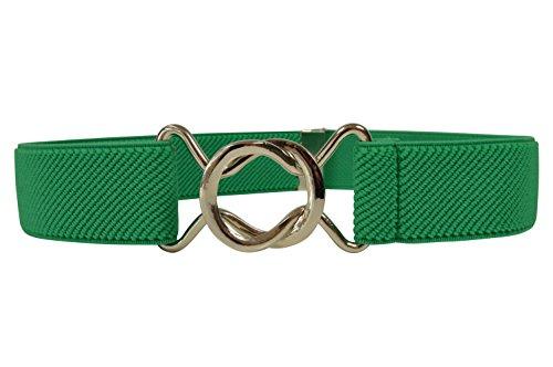Olata Elastischer Gürtel für Kinder 1-6 Jahre, voll einstellbar mit verschiebbar Schnalle. Grün