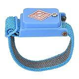 Correa de muñeca antiestática, sin cable, antiestática, banda de descarga, cable de descarga ESD, correa de muñeca, color azul