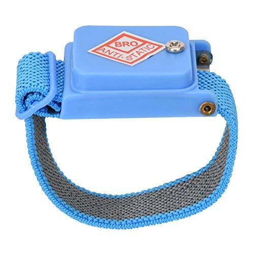 Antystatyczna, bezprzewodowa opaska na nadgarstek eliminująca statyczne działanie nadgarstka - niebieska