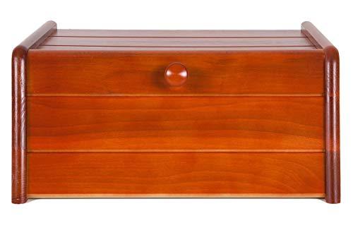Brotkasten HolzFee BK-K 40 cm Cherry Holz Brotkiste Brotbox