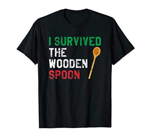 I Survived The Wooden Spoon - Funny Italian Gift T-Shirt