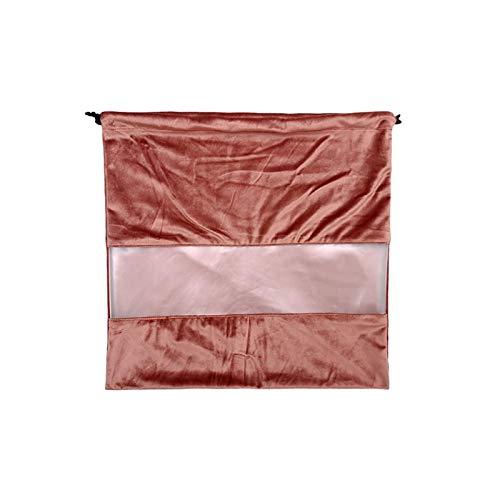 Honton Bolsas de almacenamiento de terciopelo repetibles a prueba de polvo con cordón para bolsos, bolsos, bolsos, bolsos, bolsos, mantas ligeras para dormir, abrigos,grande (rosa oscuro)