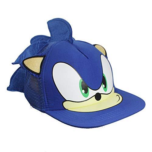 SunAll Baseballmütze Hip Hop-Kappe, 1 PC-Karikatur Sonic Mode Sonnenhut beiläufige Cosplay Baseball-Kappe Kappe Partei Geschenke