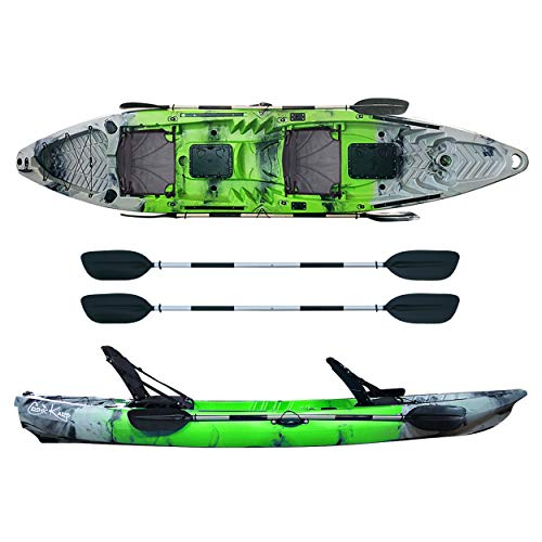 ATLANTIS Kayak-Canoa Cosmic KARP cm 390 Verde/Grigia - 2 gavoni - 2 seggiolini - 2 pagaie