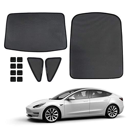 UV Sun and Heat Reflector for Tesla Model 3 Sedan 2018 The Original Windshield Sunshade for Tesla Model 3 2019 lesgos Folding Sunroof Sunshade Custom-Fit Auto Reflective Windshield