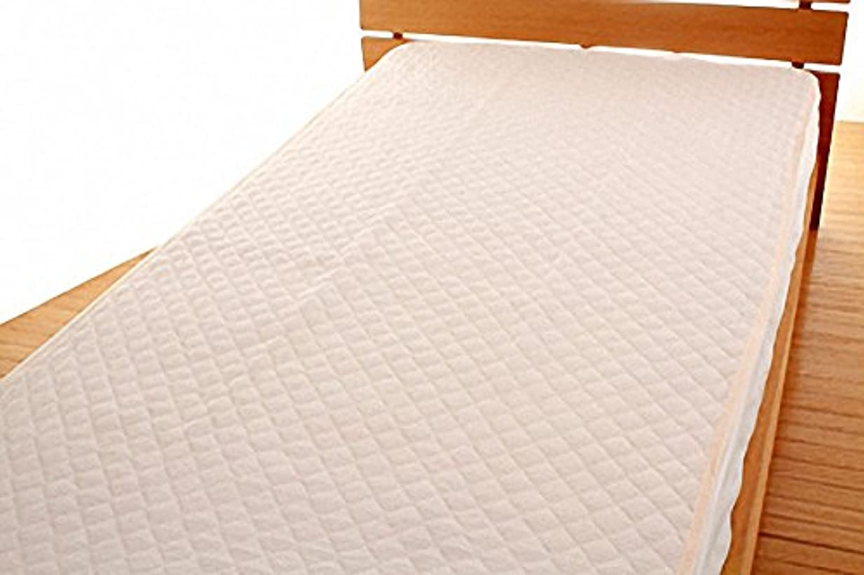 入場料波紛争涼感素材 シンカーパイル 敷きパッド シングルサイズ (ピンク)