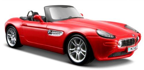 Maisto BMW Z8: getrouw modelauto 1:24, deuren en motorkap te openen, klaar model, 20 cm, rood (531996)