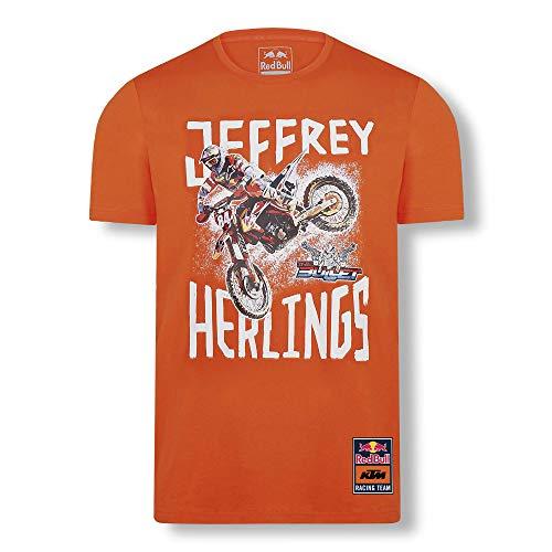 Red Bull KTM Jeffrey Herlings 84 T-Camisa, Rojo Hombres Small Camisa Manga Larga, KTM Racing Team Original Ropa & Accesorios