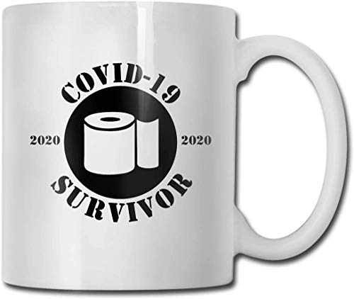 antfeagor Covid-19 Survivor Coronavirus Coffee Mug, Funny Mug for Cea Coffee Best for Your Family, Friends, Company Colleagues White, 11 Oz