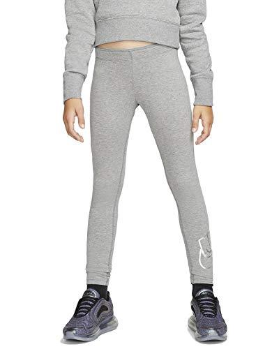 NIKE Sportswear Mallas Y Leggings, Niñas, Carbon Heather, M