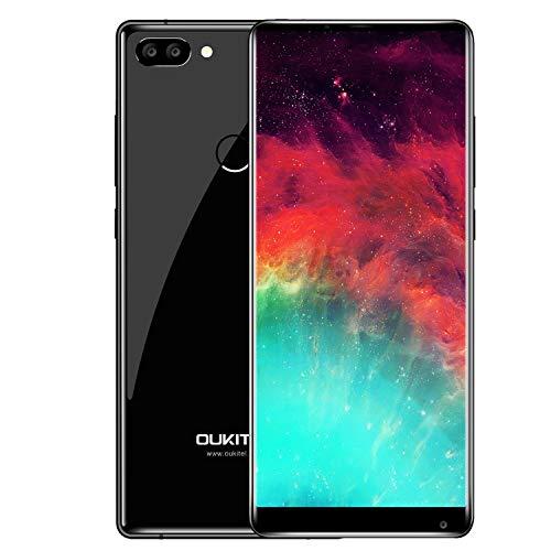 OUKITEL MIX2 Smartphone senza contratto 6GBRAM64GBROM 21 MP + doppia telecamera posteriore 2 MP, induzione giroscopio geommagnetica, telefono contrattuale, Android 7.0 4080 mAH, doppia fotocamera