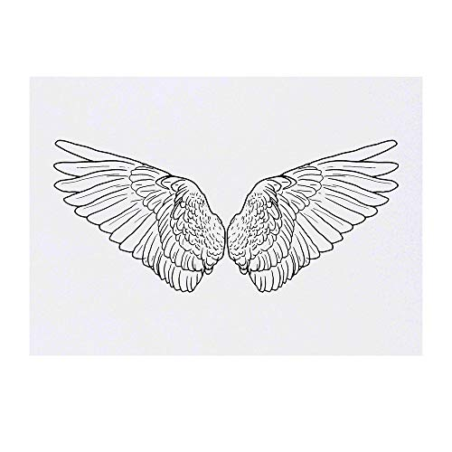 Grand 'Ailes d'Anges' Tatouages temporaires (TO00041534)