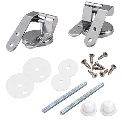 Istloho 1 Paar WC Sitz Scharnier Legierung Toilette Befestigungen aus rostfreiem Zink für Ersatzteil Reparatur mit Montage Zubehör