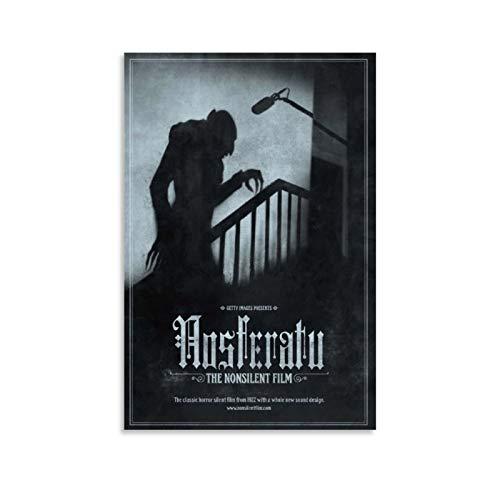 CHAOZHE Nosferatu Klassisches Filmposter, klassischer Horror, Leinwand-Kunst-Poster und Wandkunst, Bild, Druck, moderne Familie, Schlafzimmer, Dekoration, Poster, 30 x 45 cm