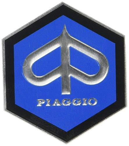 Emblema Piaggio Hexagon Cascade for Vespa Sprint Rally etc–Aluminio, 49x 43mm