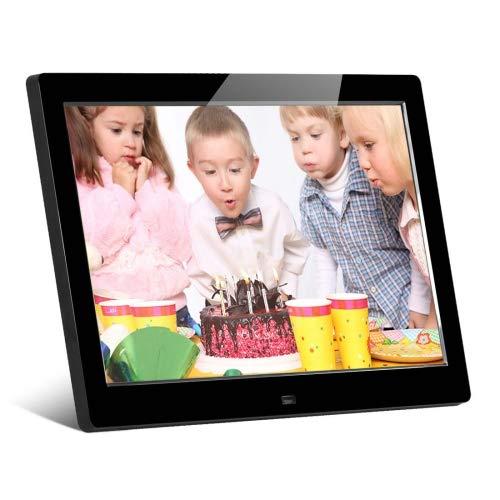 """Generic HSD-P520 - Marco de fotos digital con pantalla LCD de 10,1"""", soporte para entrada de tarjeta USB/SD, altavoz estéreo integrado, enchufe de la UE/EE. UU./Reino Unido (negro)"""