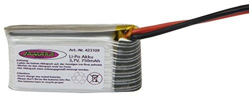 Jamara Jamara423109Lithium-Polymer-Akku, 3,7V 750mAh 2,77Wh, für F1X-Quadrocopter