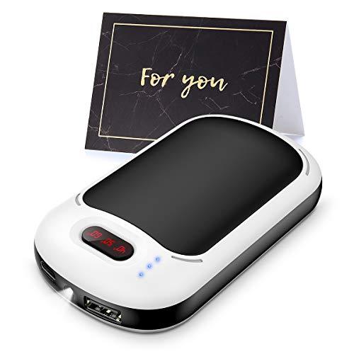 Handwärmer, Wiederaufladbare Handwärmer USB 7800mAh Power Bank und LED-Beleuchtung, Tragbarer Taschenwärmer elektrisch, Wärmetherapie, ideal für Arthritis, Schmerzlinderung, Beste Wintergeschenke
