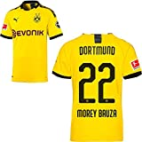 PUMA Borussia Dortmund BVB Heimtrikot 2019 2020 Home Trikot Sponsor BL Logo Herren Mateu Morey Bauza 22 Gr L