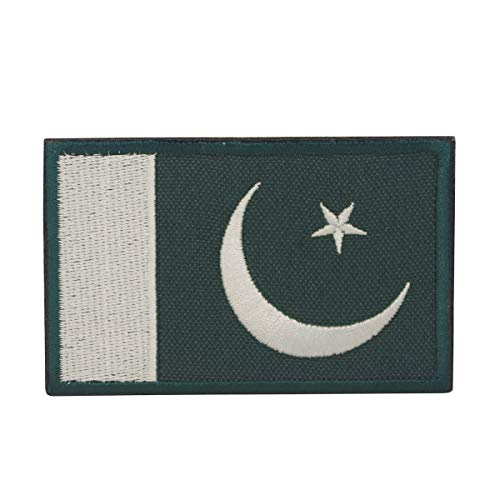 COBRA Tactical Solutions Flagge Pakistan Military Besticktes Patch mit Klettverschluss für Airsoft Cosplay Paintball für Taktische Kleidung Rucksack