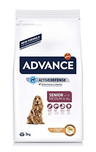 ADVANCE Senior Medium - Pienso Para Perros Senior De Razas Medianas Con Pollo - 3 kg