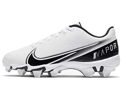 Nike Kids' Vapor Edge Shark Football Cleats (White/Black, Numeric_6)