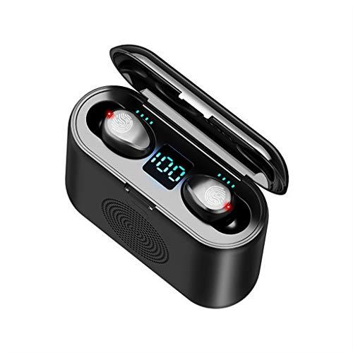 Marxways Twins Touch Drahtlose Ohrhörer Bluetooth-Kopfhörer Touch-Steuerung mit kabellosem Ladekoffer TWS Stereo-Ohrhörer In-Ear Eingebautes Mikrofon-Headset Premium Deep Bass für Sport Schwarz