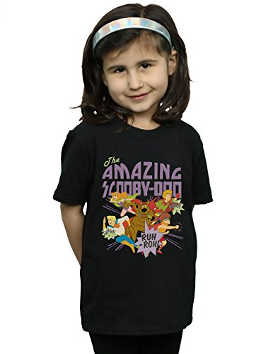 Scooby DOO Mädchen The Amazing Scooby T-Shirt Schwarz 12-13 Years