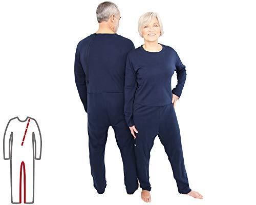 Pflegeoverall für Frauen und Männer; relax lang mit Bein- und Rückenreißverschluss; Demenz Overall; ActivePro (L)