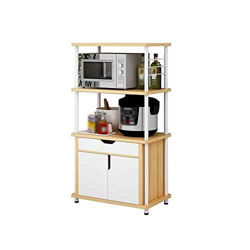 Estantes De Almacenamiento, Estantes De Cocina IKEA - Armarios De Varias Capas - Estantes For Horno De Microondas For El Hogar - Estantes De Horno - Estantes De Almacenamiento De Madera De Pie (tamaño