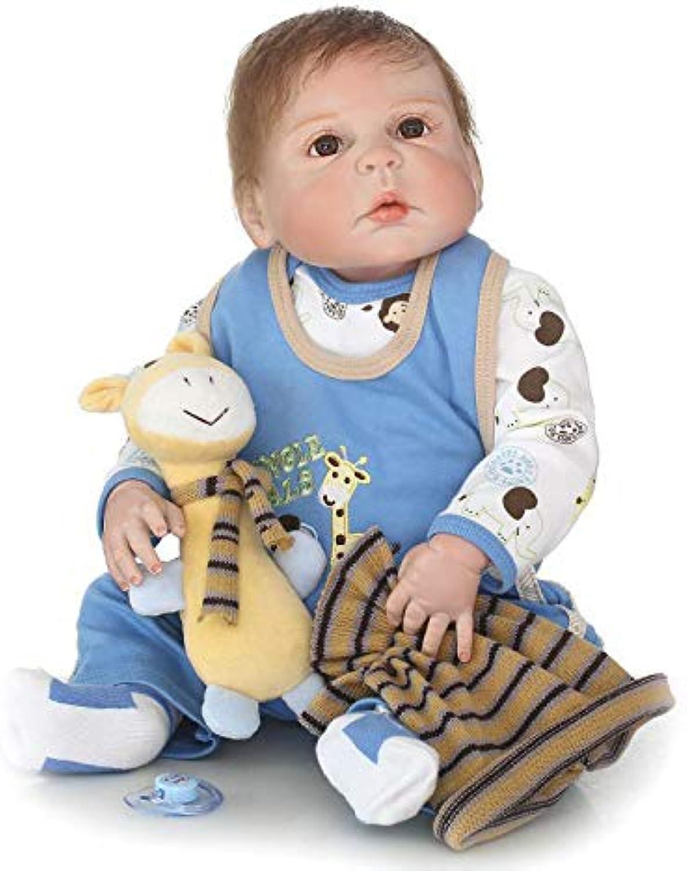 Lebensechte Und Handgemachte 22.5 Zoll 57Cm Weiche Silikon Reborn Babypuppen Realistische Neugeborenen Puppe (Hand-Appliziert Mohair) WENNIU B07JCZB8JR Stabile Qualität  | Qualität und Verbraucher an erster Stelle