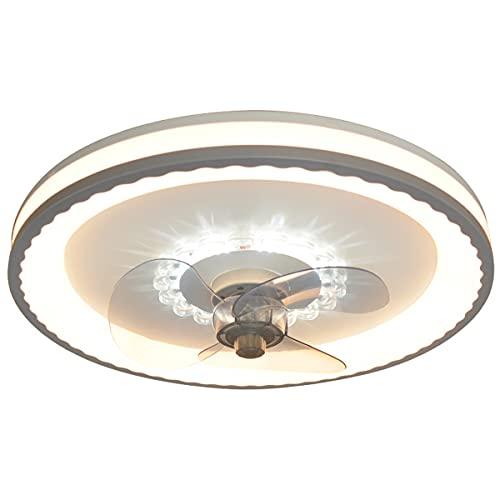 QJUZO 55W Ventilador De Techo con Iluminación LED Luz, Regulable Lámpara De Techo con Mando A Distancia, Velocidad del Viento Ajustable, Ultra Silencioso Lámpara del Ventilador Sala Dormitorio