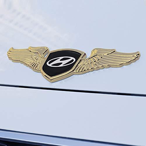 Insignia de Emblema de Coche Capacidad Capacidad Frontal Cubierta Insignia Calcomanía Emblema Metal Emblema Compatible con Hyundai Sonata IX35 i20 I30 Azera Elantra Tiburon Mistra Verna Tucson Emblema